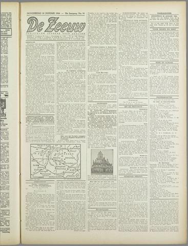 De Zeeuw. Christelijk-historisch nieuwsblad voor Zeeland 1944-01-20