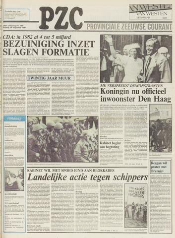 Provinciale Zeeuwse Courant 1981-08-14