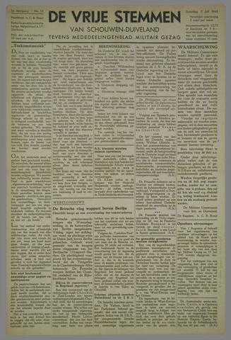 Vrije Stemmen van Schouwen-Duiveland, tevens mededeelingenblad Militair Gezag 1945-07-07