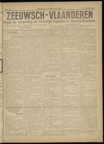 Luctor et Emergo. Antirevolutionair nieuws- en advertentieblad voor Zeeland / Zeeuwsch-Vlaanderen. Orgaan ter verspreiding van de christelijke beginselen in Zeeuwsch-Vlaanderen 1918-02-09