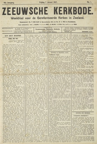 Zeeuwsche kerkbode, weekblad gewijd aan de belangen der gereformeerde kerken/ Zeeuwsch kerkblad 1927