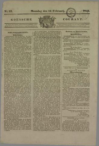 Goessche Courant 1842-02-14