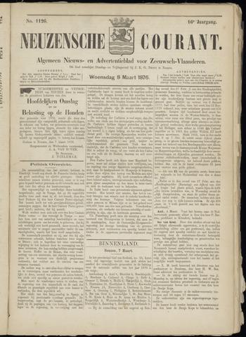 Ter Neuzensche Courant. Algemeen Nieuws- en Advertentieblad voor Zeeuwsch-Vlaanderen / Neuzensche Courant ... (idem) / (Algemeen) nieuws en advertentieblad voor Zeeuwsch-Vlaanderen 1876-03-08