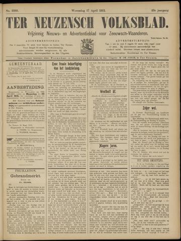 Ter Neuzensch Volksblad. Vrijzinnig nieuws- en advertentieblad voor Zeeuwsch- Vlaanderen / Zeeuwsch Nieuwsblad. Nieuws- en advertentieblad voor Zeeland 1912-04-17