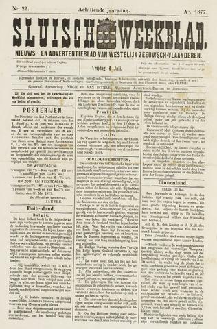 Sluisch Weekblad. Nieuws- en advertentieblad voor Westelijk Zeeuwsch-Vlaanderen 1877-06-01