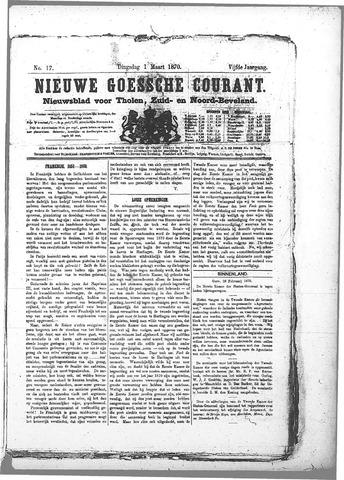 Nieuwe Goessche Courant 1870-03-01