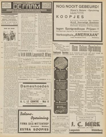 de Faam en de Faam/de Vlissinger 1938