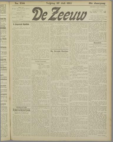 De Zeeuw. Christelijk-historisch nieuwsblad voor Zeeland 1917-07-27