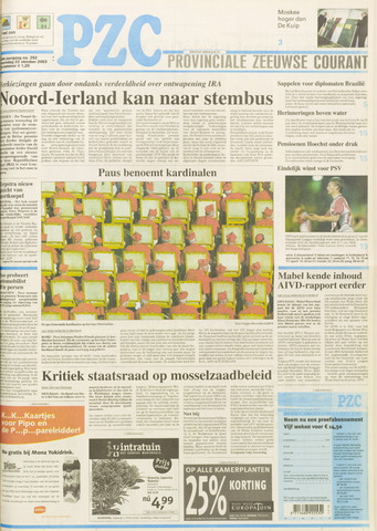 Provinciale Zeeuwse Courant 2003-10-22