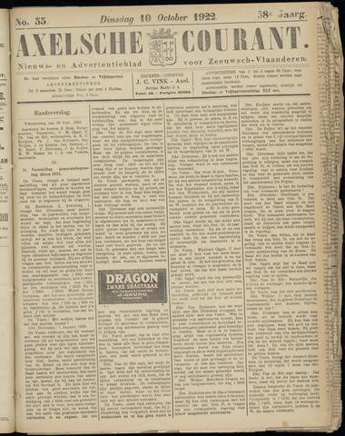 Axelsche Courant 1922-10-10