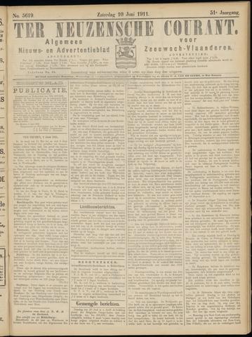 Ter Neuzensche Courant. Algemeen Nieuws- en Advertentieblad voor Zeeuwsch-Vlaanderen / Neuzensche Courant ... (idem) / (Algemeen) nieuws en advertentieblad voor Zeeuwsch-Vlaanderen 1911-06-10