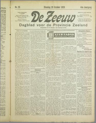 De Zeeuw. Christelijk-historisch nieuwsblad voor Zeeland 1929-10-29
