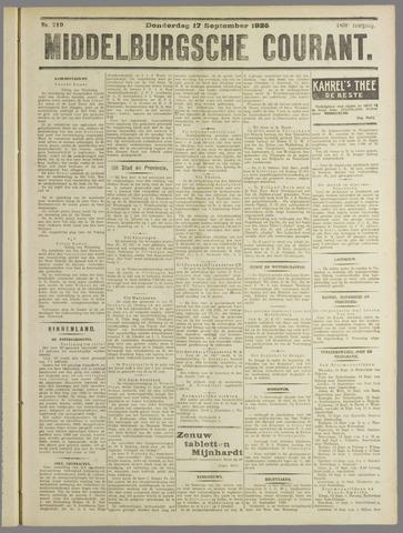 Middelburgsche Courant 1925-09-17