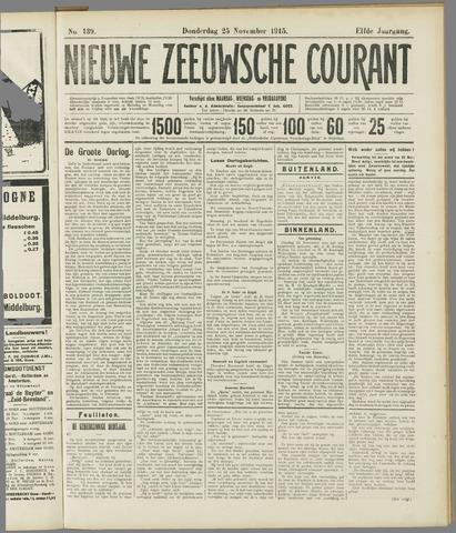 Nieuwe Zeeuwsche Courant 1915-11-25