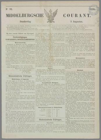 Middelburgsche Courant 1854-08-03