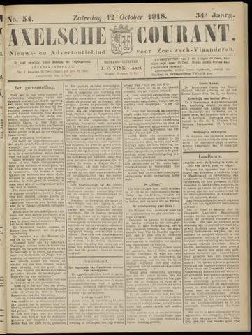 Axelsche Courant 1918-10-12