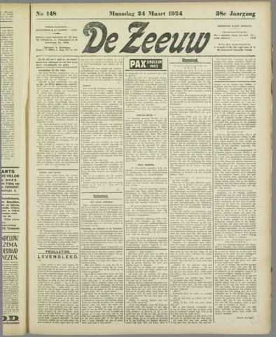 De Zeeuw. Christelijk-historisch nieuwsblad voor Zeeland 1924-03-24