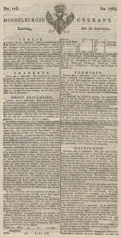 Middelburgsche Courant 1761-09-26
