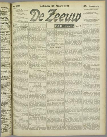 De Zeeuw. Christelijk-historisch nieuwsblad voor Zeeland 1921-03-26