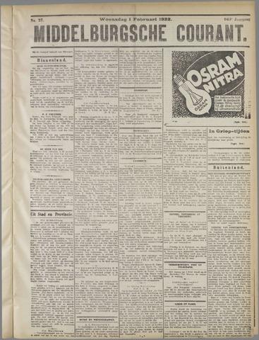 Middelburgsche Courant 1922-02-01