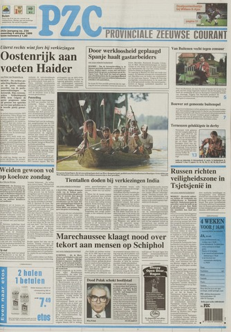 Provinciale Zeeuwse Courant 1999-10-04