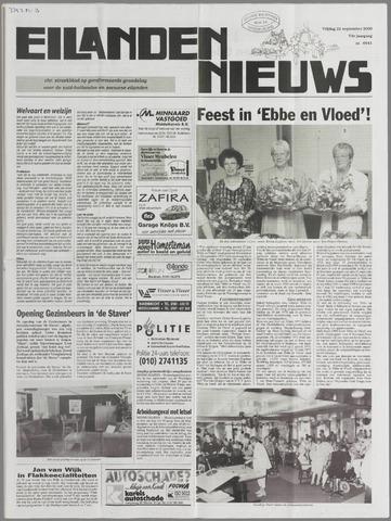 Eilanden-nieuws. Christelijk streekblad op gereformeerde grondslag 2000-09-22