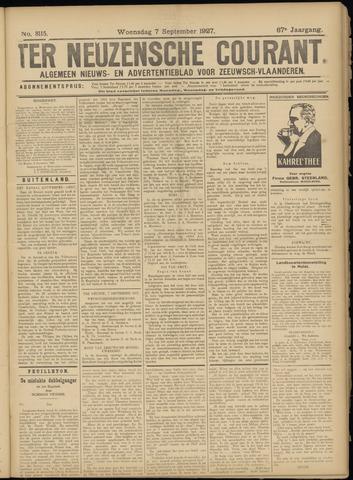 Ter Neuzensche Courant. Algemeen Nieuws- en Advertentieblad voor Zeeuwsch-Vlaanderen / Neuzensche Courant ... (idem) / (Algemeen) nieuws en advertentieblad voor Zeeuwsch-Vlaanderen 1927-09-07