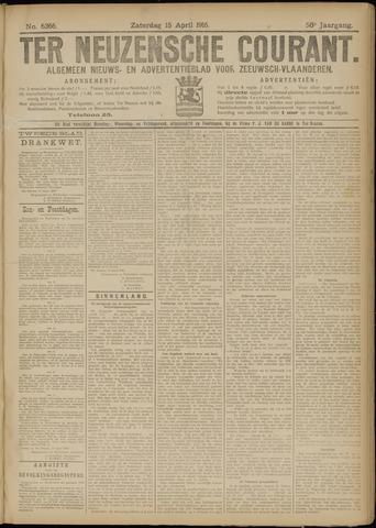 Ter Neuzensche Courant. Algemeen Nieuws- en Advertentieblad voor Zeeuwsch-Vlaanderen / Neuzensche Courant ... (idem) / (Algemeen) nieuws en advertentieblad voor Zeeuwsch-Vlaanderen 1916-04-15