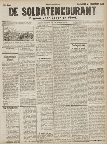 De Soldatencourant. Orgaan voor Leger en Vloot 1915-11-03