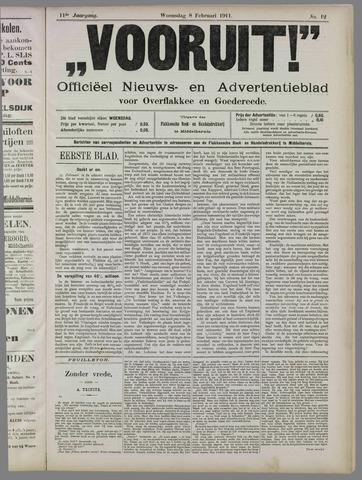 """""""Vooruit!""""Officieel Nieuws- en Advertentieblad voor Overflakkee en Goedereede 1911-02-08"""