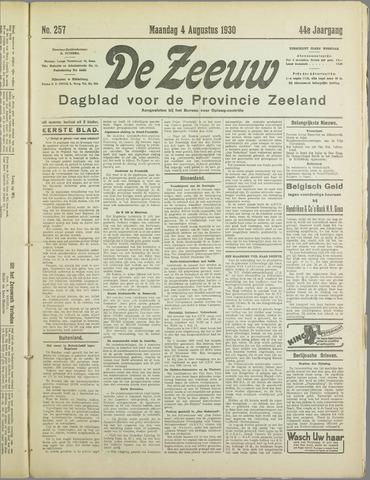 De Zeeuw. Christelijk-historisch nieuwsblad voor Zeeland 1930-08-04