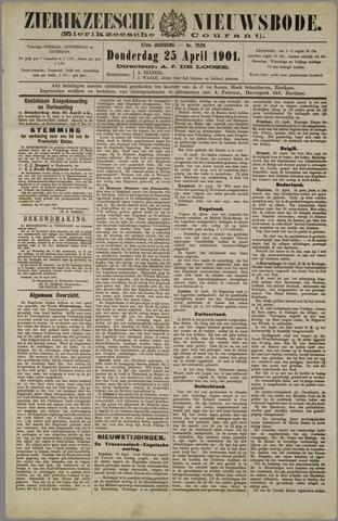 Zierikzeesche Nieuwsbode 1901-04-25