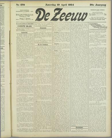 De Zeeuw. Christelijk-historisch nieuwsblad voor Zeeland 1924-04-19