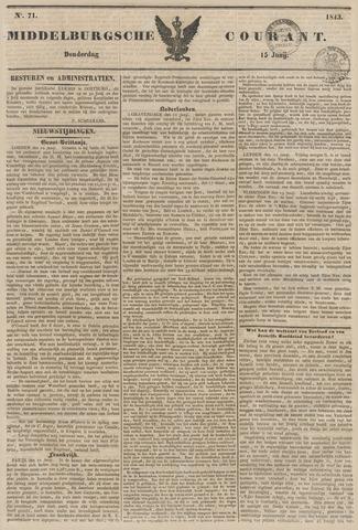 Middelburgsche Courant 1843-06-15
