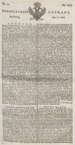 Middelburgsche Courant 1771-04-11