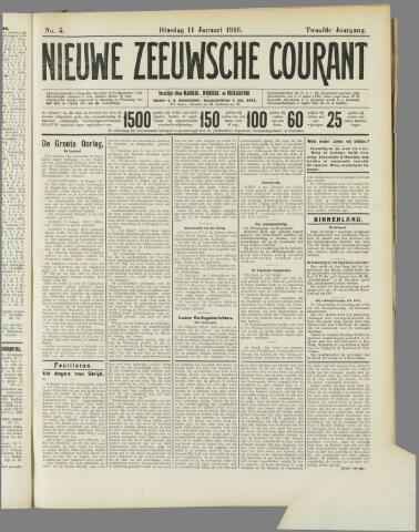 Nieuwe Zeeuwsche Courant 1916-01-11