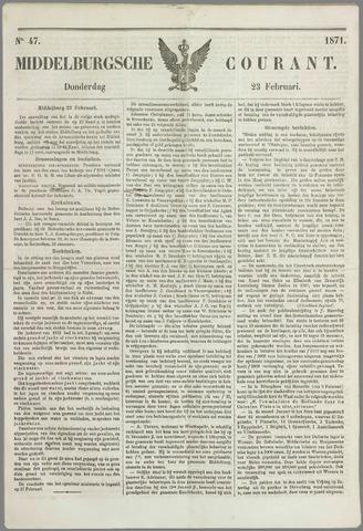 Middelburgsche Courant 1871-02-23