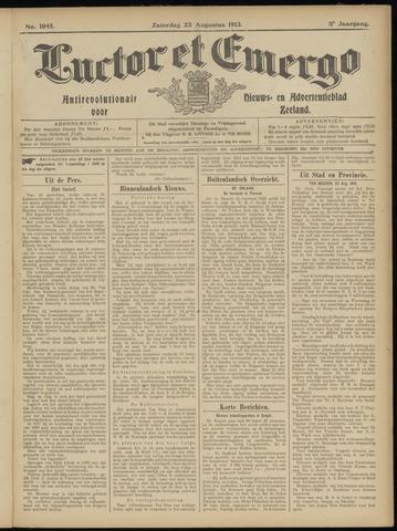 Luctor et Emergo. Antirevolutionair nieuws- en advertentieblad voor Zeeland / Zeeuwsch-Vlaanderen. Orgaan ter verspreiding van de christelijke beginselen in Zeeuwsch-Vlaanderen 1913-08-23