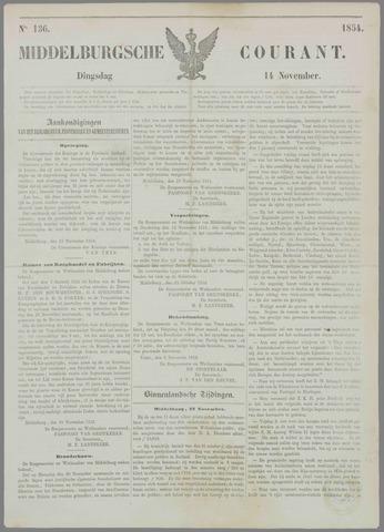 Middelburgsche Courant 1854-11-14