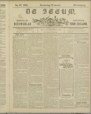 De Zeeuw. Christelijk-historisch nieuwsblad voor Zeeland 1906-01-25
