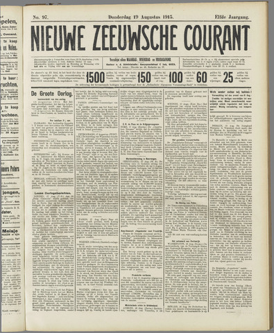 Nieuwe Zeeuwsche Courant 1915-08-19