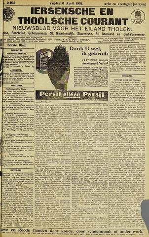 Ierseksche en Thoolsche Courant 1931-04-03