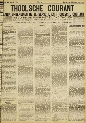 Ierseksche en Thoolsche Courant 1935-04-19