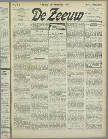 De Zeeuw. Christelijk-historisch nieuwsblad voor Zeeland 1920-10-29