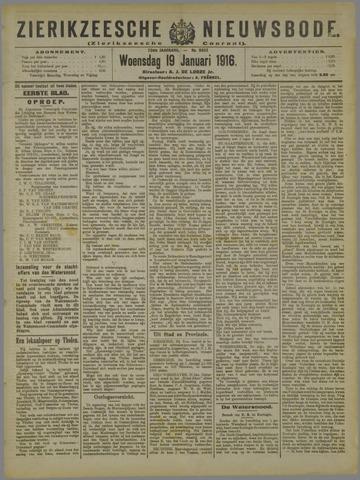 Zierikzeesche Nieuwsbode 1916-01-19