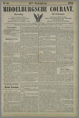 Middelburgsche Courant 1884-02-23