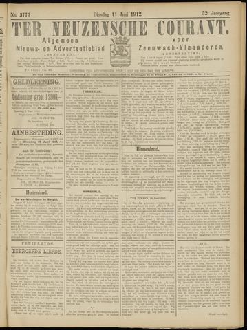 Ter Neuzensche Courant. Algemeen Nieuws- en Advertentieblad voor Zeeuwsch-Vlaanderen / Neuzensche Courant ... (idem) / (Algemeen) nieuws en advertentieblad voor Zeeuwsch-Vlaanderen 1912-06-11