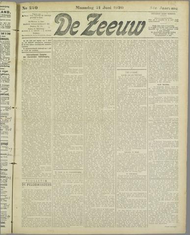 De Zeeuw. Christelijk-historisch nieuwsblad voor Zeeland 1920-06-21