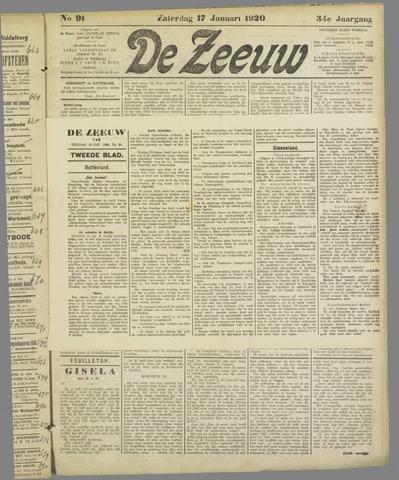 De Zeeuw. Christelijk-historisch nieuwsblad voor Zeeland 1920-01-17