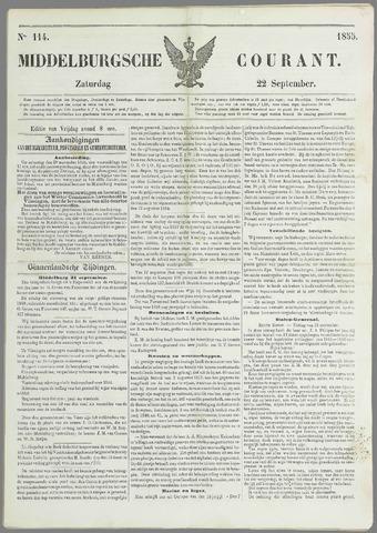 Middelburgsche Courant 1855-09-22